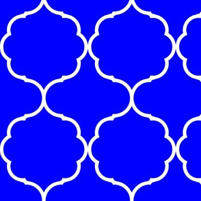 Hexafoil Royal Blue and White