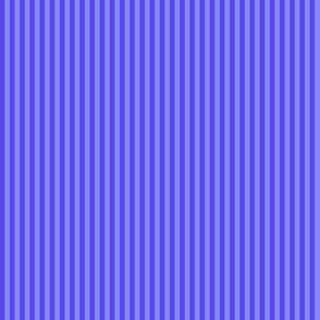 narrow stripes in periwinkle