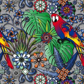Jungle Flowers (Bright Colors)