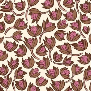pods - brown and pink