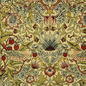 William Morris ~ Strawberry Thief ~ Trianon Cream ~ Linen Luxe