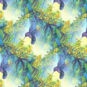 Purple Hummingbird Marijuana Cannabis  Print