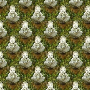 Happy Buddha Marijuana Cannabis Fabric