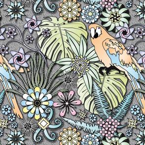 Jungle Flowers (Pastel Colors)