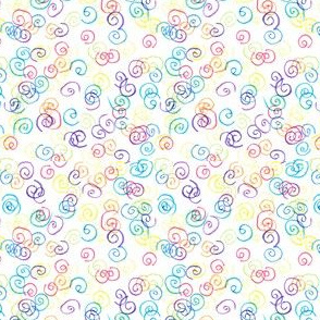 Crayon Drawn Curly Qs