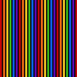 Rainbow Stripes - Basic - Black