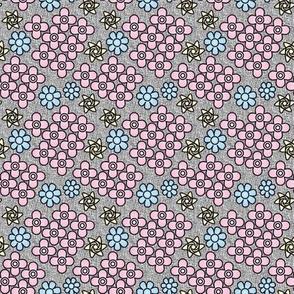 Jungle Flowers Coordinate (Pastel colors)