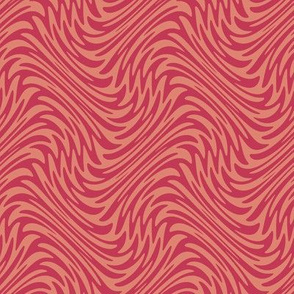 feather swirl in red and blush