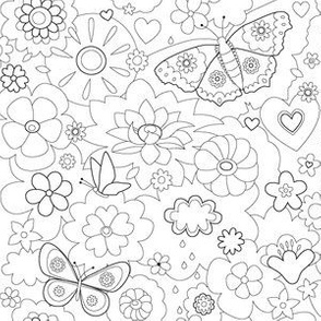Floral coloring