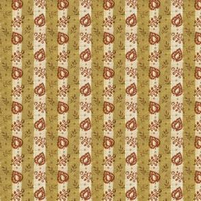 Leaf Stripe Block Print