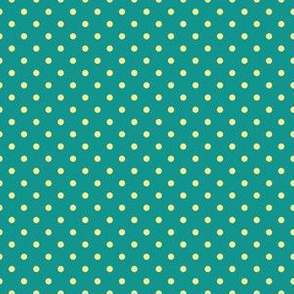 Yellow Dots on Teal (April)
