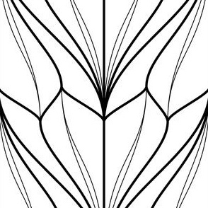 03077594 : bell flower 2j : outline