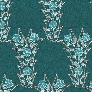 Lost tjap shawl-dress fabric1 - VECTOR-blgrns-brn-DKBLGRN-W-BL-TEXTURED-patternbkgr2