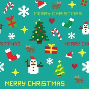 Pixel christmas pattern