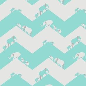 Turquiose Elephants March