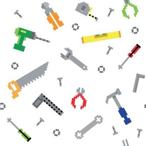 Pixel game construction tools