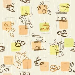 Retro coffee pattern