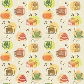 Vintage radio pattern