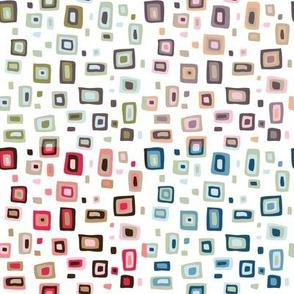 Retro fifties squares design