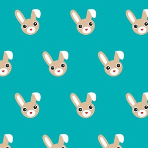Cute bunny blue pattern for kids