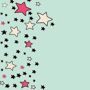 Star Border on Mint Green | Paper Moon Collection