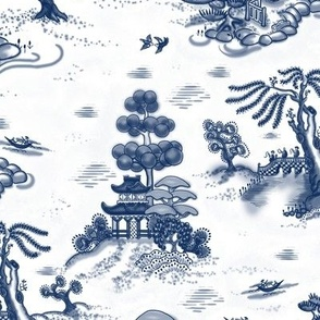Blue Willow Toile