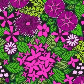 Wild Wallflowers (Pink)