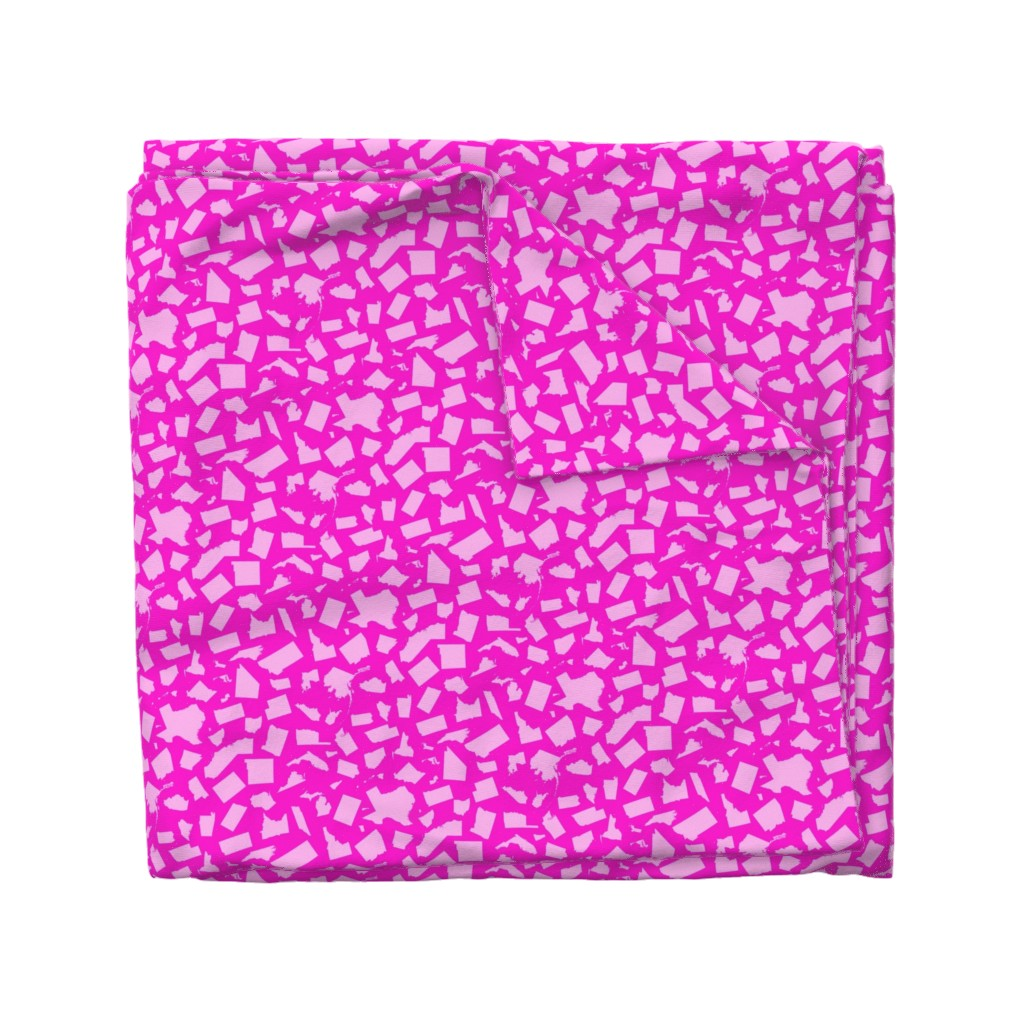 Wyandotte Duvet Cover featuring United States Scatter (Pink) by robyriker