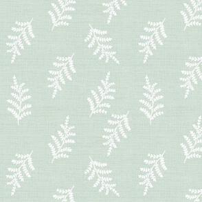 fern vintage botanical on pale sea