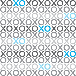 XOXO : grey + blue : big