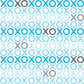 XOXO : blue + grey : big