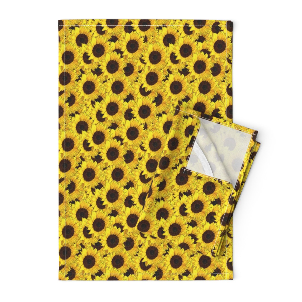Orpington Tea Towels featuring Sunflowers are us by linsart