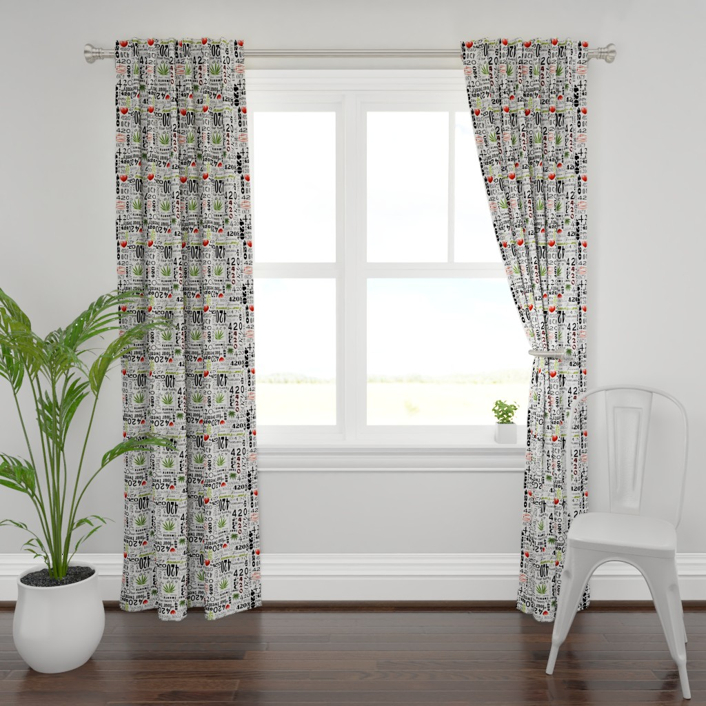 Plymouth Curtain Panel featuring 420 by camomoto