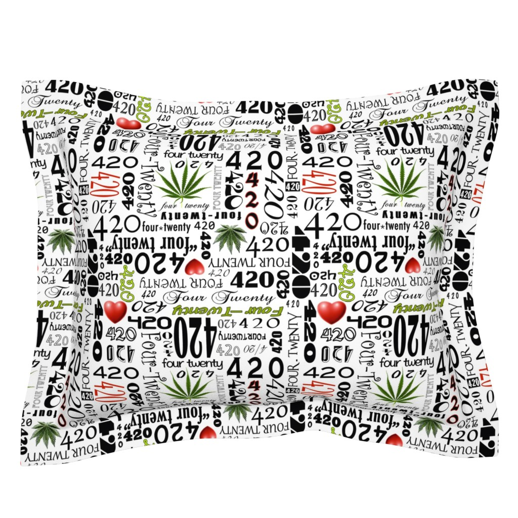 Sebright Pillow Sham featuring 420 by camomoto