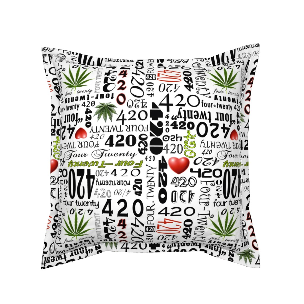 Serama Throw Pillow featuring 420 by camomoto
