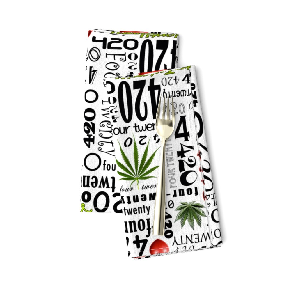Amarela Dinner Napkins featuring 420 by camomoto