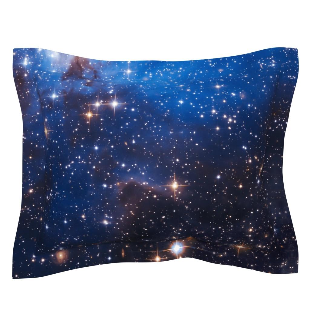 Sebright Pillow Sham featuring Cosmos by shino_usagi