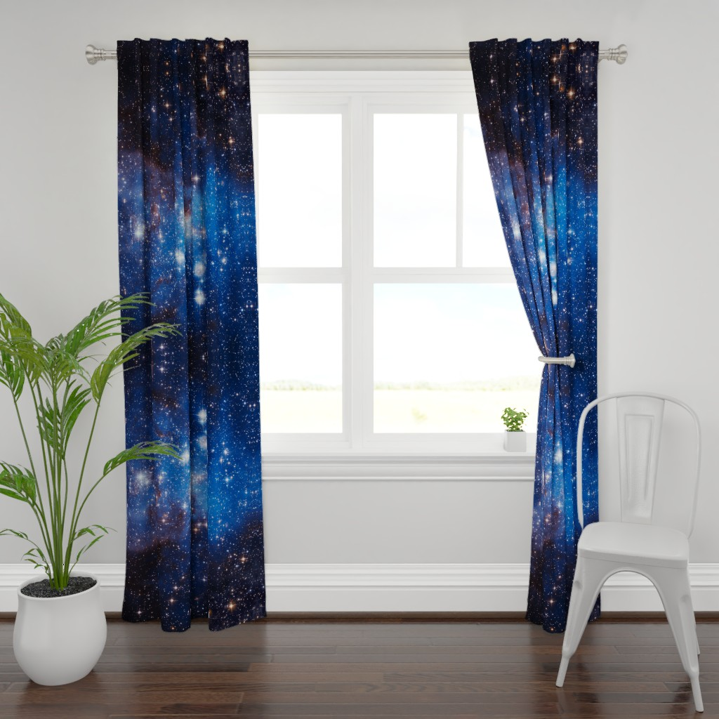 Plymouth Curtain Panel featuring Cosmos by shino_usagi