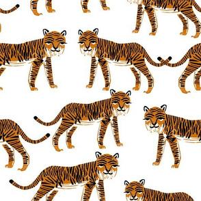 Safari Tiger - Rust/White by Andrea Lauren