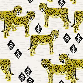Safari Cheetah - Goldenrod by Andrea Lauren