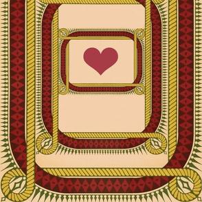 Rope-Framed Valentine