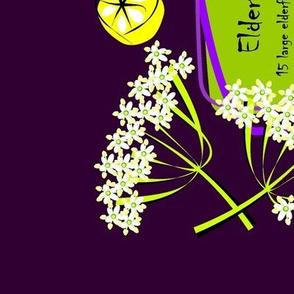 Elderflower cordial - recipe tea towel
