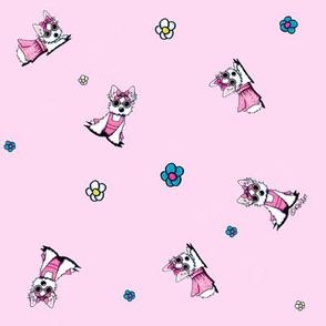 Miss Olivia On Pink (Small)