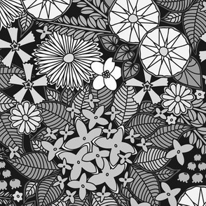Wild Wallflowers (Gray)