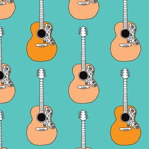 Retro acoustic guitar music design