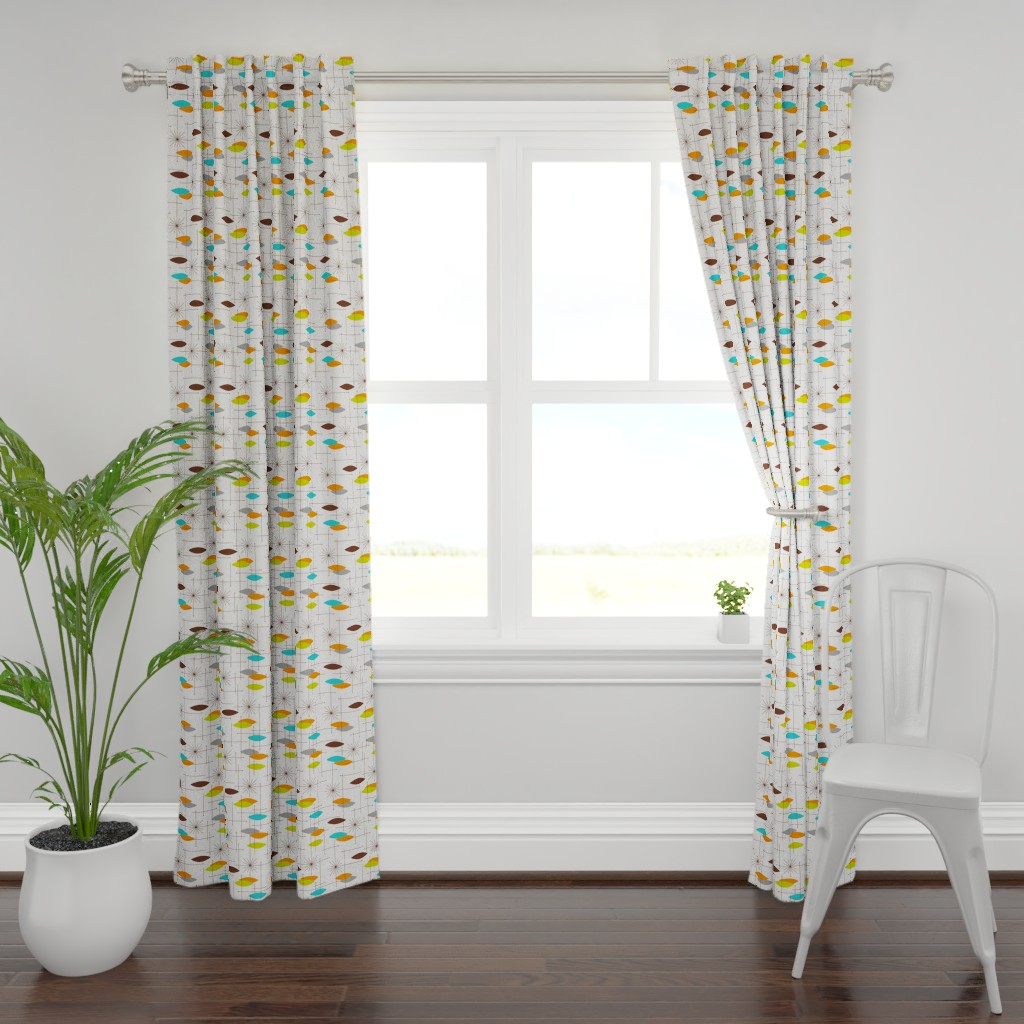 Plymouth Curtain Panel featuring Orbs #7 (large) by tonyanewton