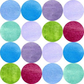 Blue Watercolor Dots