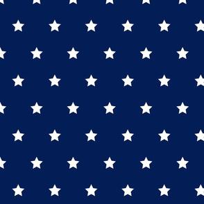 Navy and white star