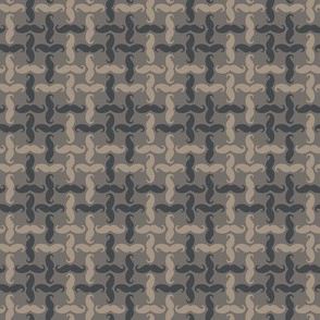 mini mustache tweed - ancient grey