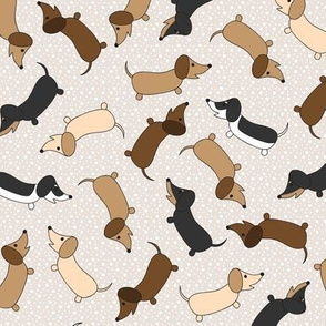 Dancing Dachshunds (Cream)